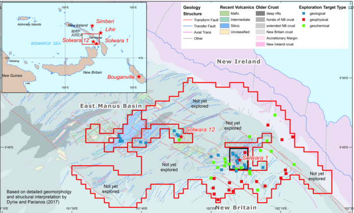 Nautilus Granted New Exploration License; Includes New Targets seabed exploration maps