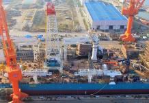 The Nautilus New Era under construction. Photo courtesy Nautilus Minerals.