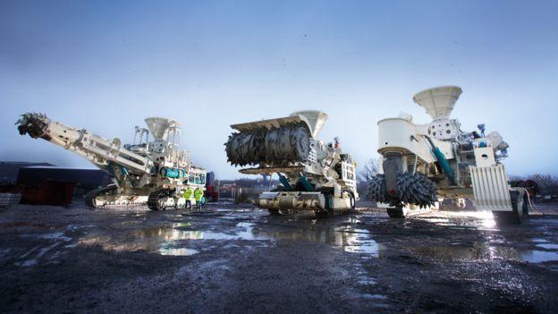 Deep-sea mining tools.