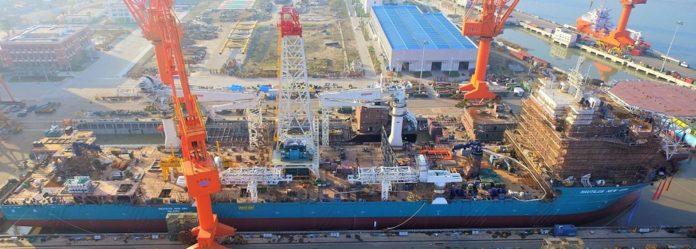 Nautilus Minerals' PSV under construction