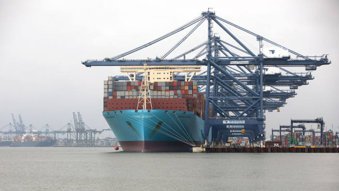 Container ships currently use bunker fuel, a residue from crude oil that is cheaper but dirtier than petrol and diesel © Bloomberg