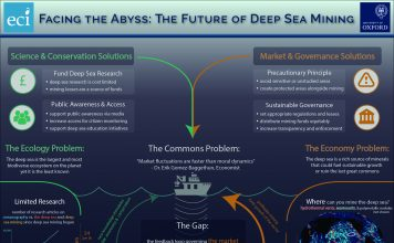 Mapping the deep sea mining system lends insights into the key problems, and solutions. Image credit Jory Fleming, Lucinda Ford, Edward Hornsby.