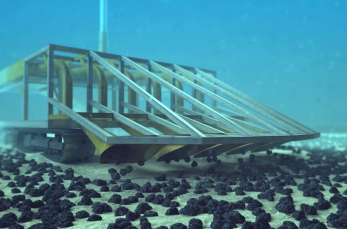 A nodule harvester. Image courtesy DeepGreen.