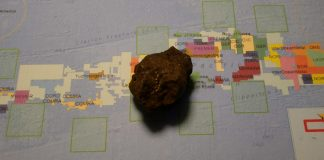 A polymetallic nodule from the Clarion Clipperton Fracture Zone, purchased from an online dealer.