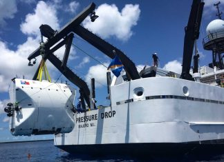 The Triton 36000/2 Hadal Exploration System. Photo courtesy Triton Submarines.