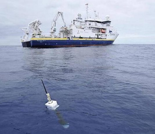 Indian research vessel exploring the 75,000 km sq. ISA lease block. Photo courtesy The Hindu.